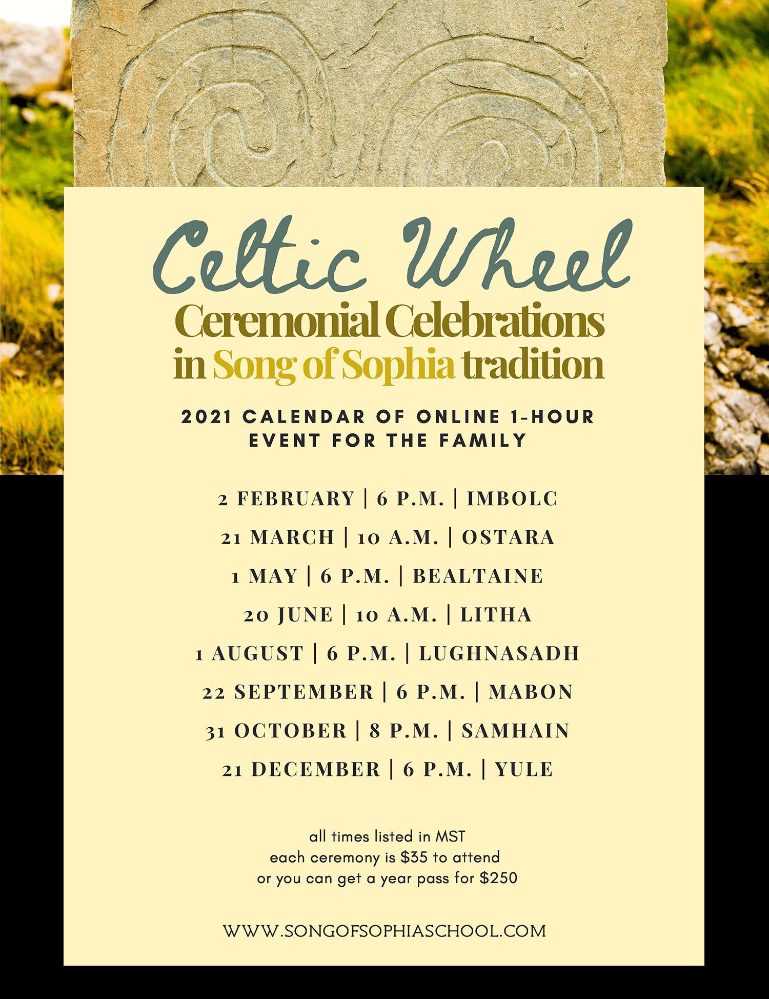 Celtic Wheel Ceremonial Celebration